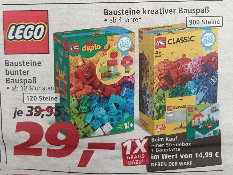real-Angebot: LEGO duplo 120 Steine oder LEGO Bausteine 900 Stück plus Gratis-Zugabe im Wert von 14,99 €