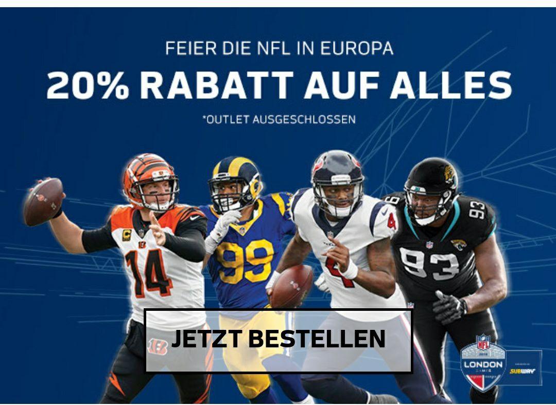 [NFL Shop Europe] 20% Rabatt auf das gesamte Sortiment (ausgenommen Outlet)