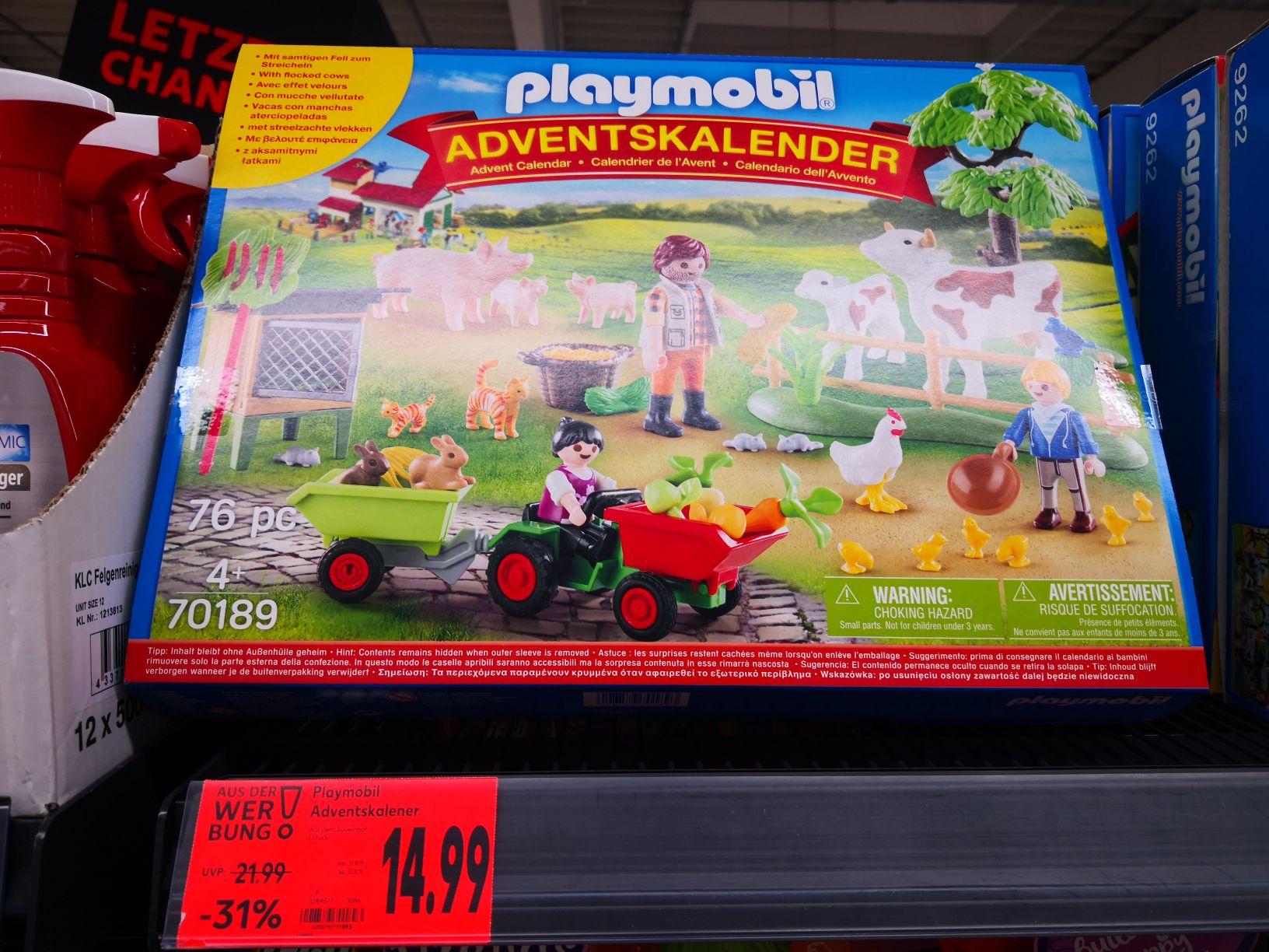 "Lokal (Kaufland Jena) Playmobil Adventskalender ""Auf dem Bauernhof"" 70189"
