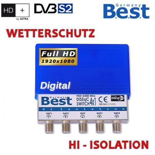 BEST DiSEqC Schalter 4 x   4/1 diseq B.E.S.T switsch HDTV