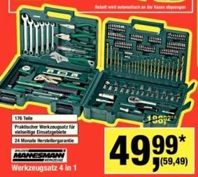 Brüder Mannesmann 29086 Werkzeugsatz 176 Teilig   Samstagsknüller 15.12 @Metro
