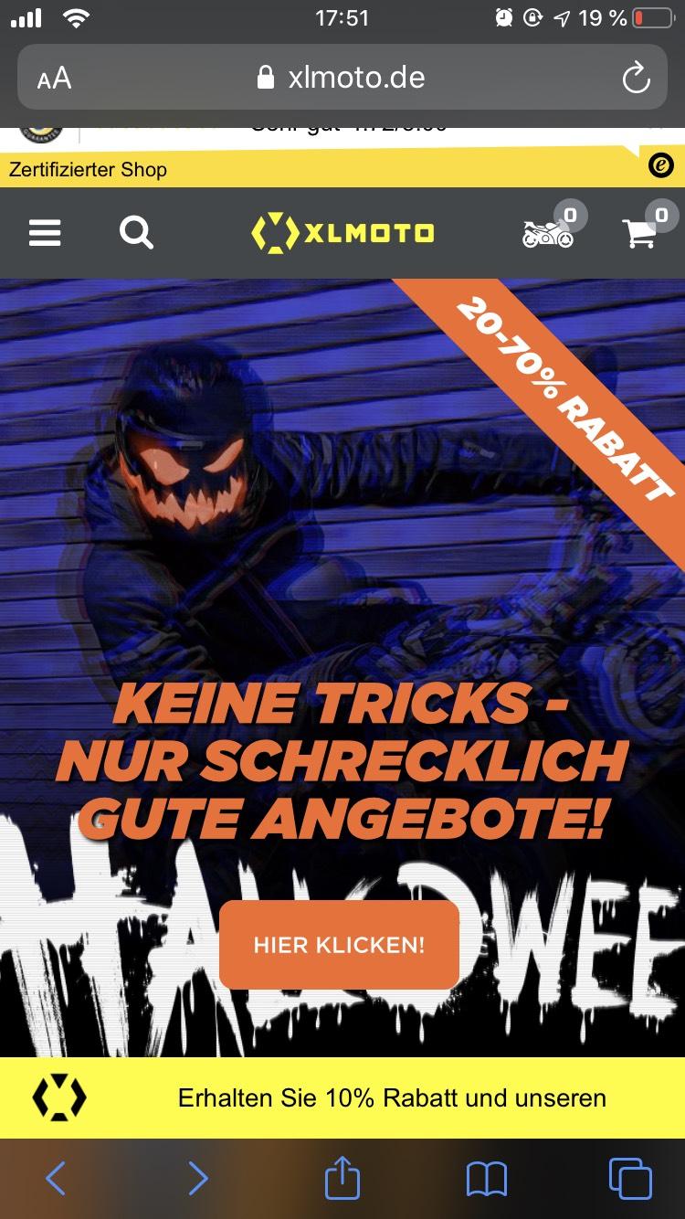 XL MOTO Halloween Sale