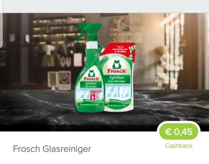 [Marktguru] Frosch Glasreiniger 0,45€ Cashback