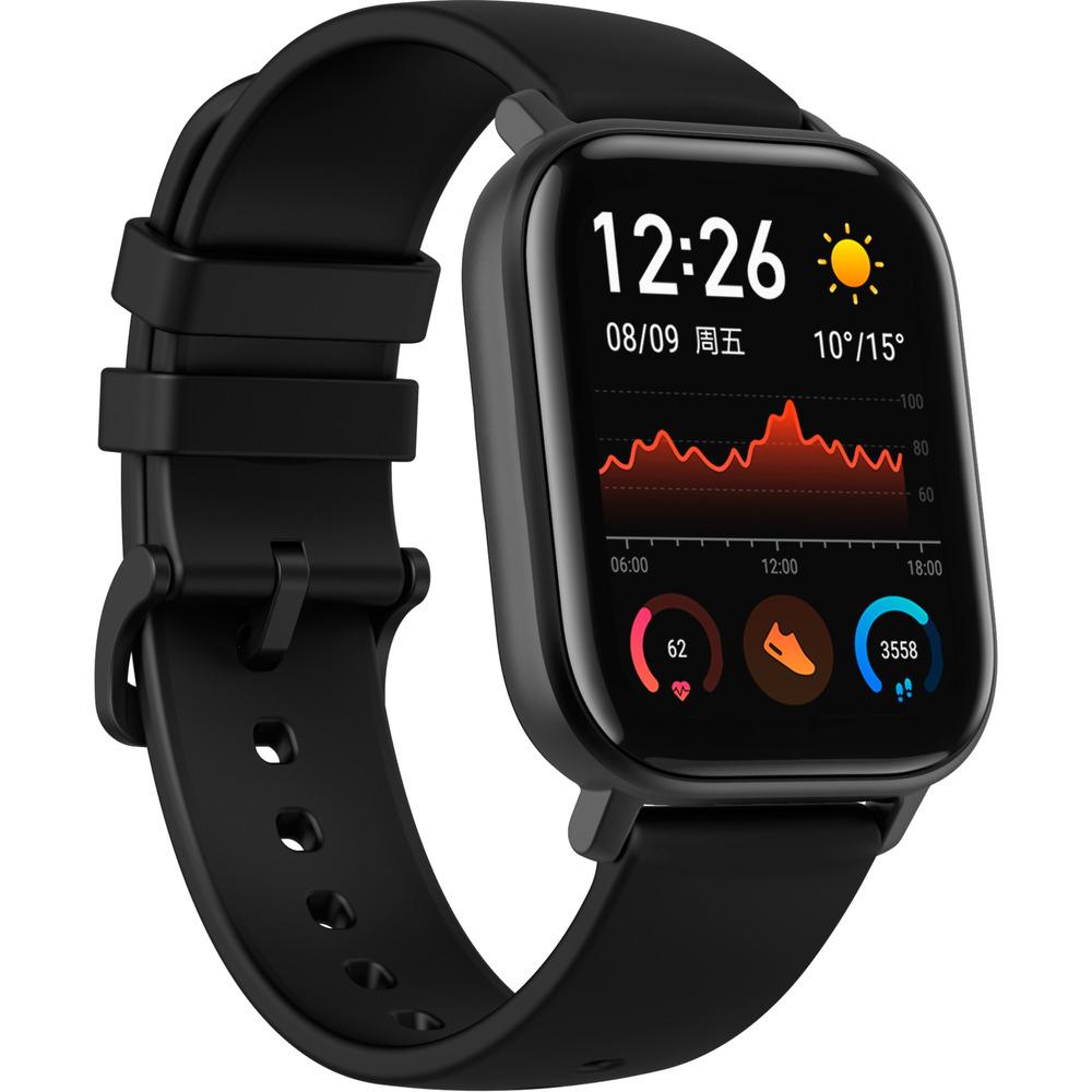 Xiaomi Huami Amazfit GTS, Smartwatch, schwarz (MASTERCARD NOTWENDIG)
