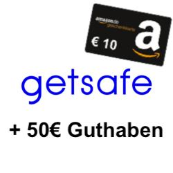 getsafe Hausrat & Haftpflicht: 1 Monat bezahlen & bis zu 6 Monate kostenlos + 10€ Amazon Gutschein [Neukunden]