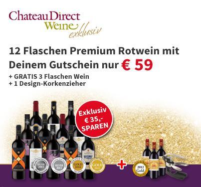 Chateau Direkt Weine 35 Euro Gutschein
