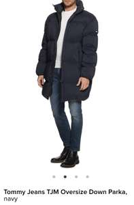 dress-for-less Angebot: Tommy Hilfiger Winterjacke TJM Oversize Down Parka navy- versandkostenfrei!