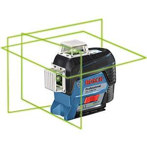 Bosch Professional Linienlaser GLL 3-80 CG (grüner Laser, mit App-Funktion, Halterung, Arbeitsbereich: bis zu 30 m, 1 Akku, 12 V, in L-BOXX)