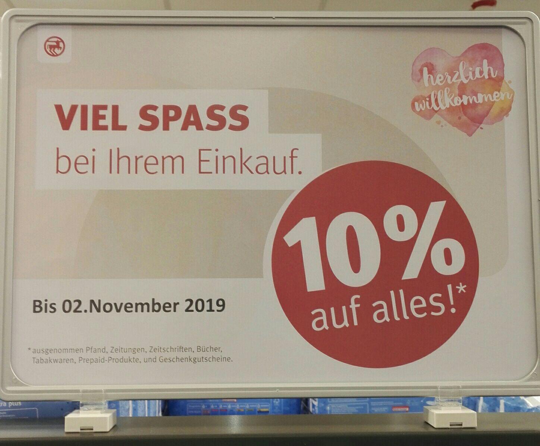 Rossmann -10% auf alles + Gutscheinheft [lokal&offline, Karlsruhe Postgalerie]