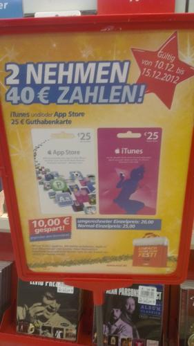 Real Moers [Lokal?] 50€ iTunes Guthaben für 40€ - nur noch heute!