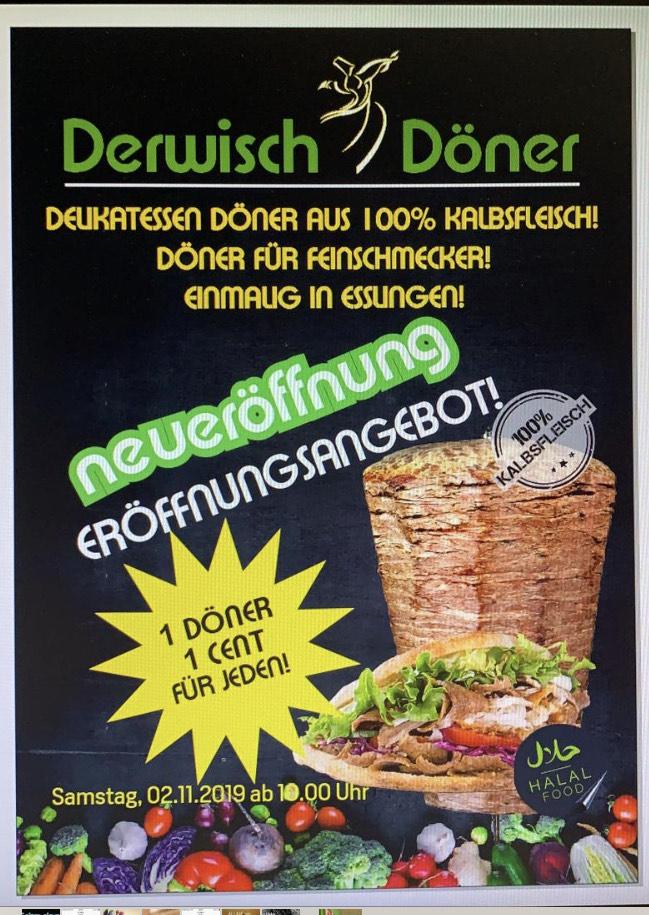 Lokal Esslingen - Döner für 0,01 € - Derwisch Döner