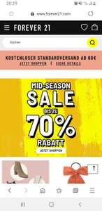 70% Sale bei Forever21