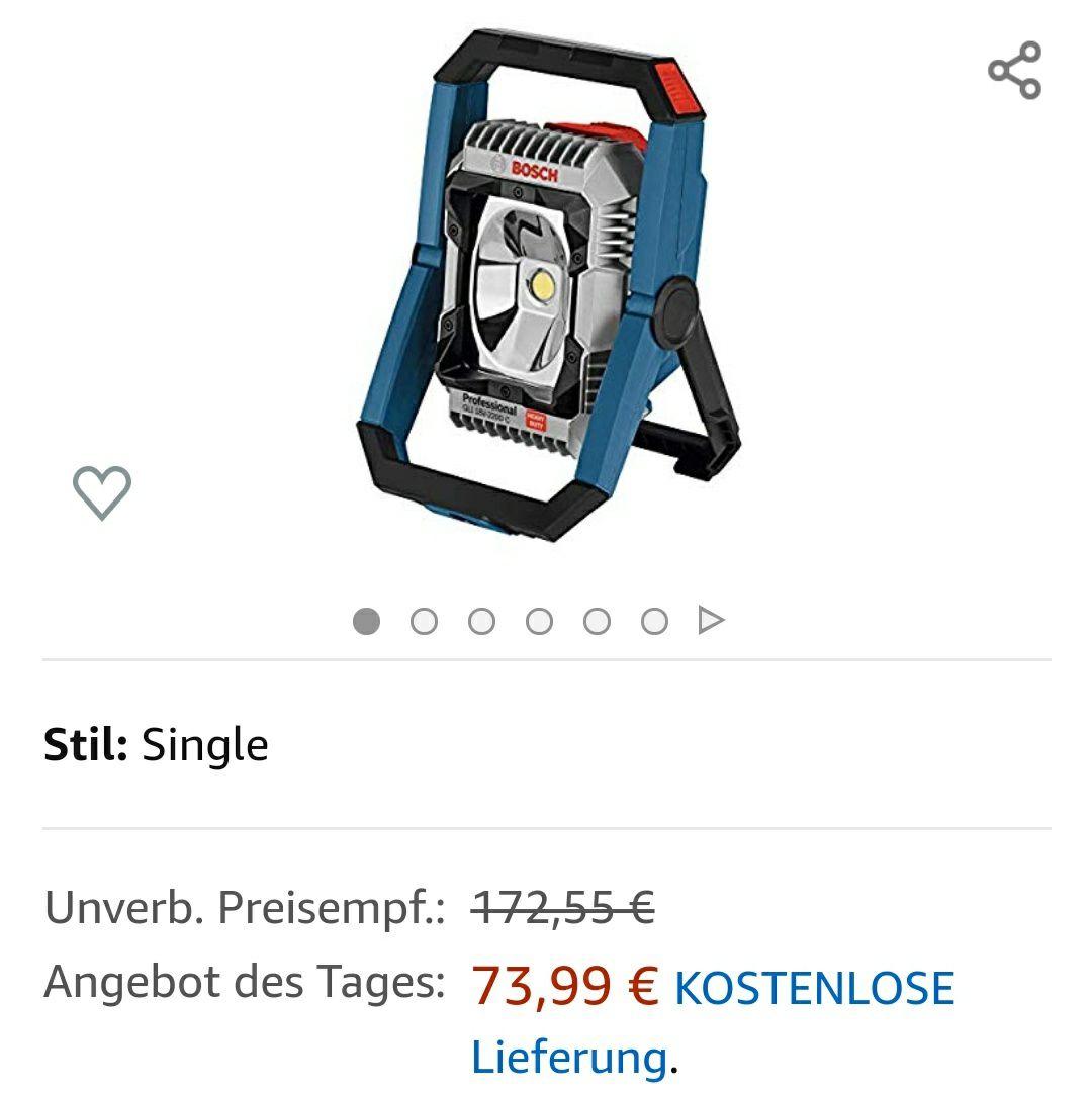 Bosch Professional Akku-Baustellenlampe GLI 18V-2200 C