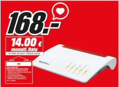 [Regional Mediamarkt Goslar] AVM FRITZBox 7590 High-End WLAN AC + N Router VDSL-/ADSL DECT-Basis 2x USB 3.0 für 168,-€
