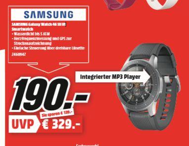 [Regional Mediamarkt Weiterstadt ab 31.10] Samsung Galaxy Watch SM-R800 46mm Silver für 190,-€