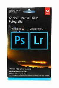 Adobe Creative Cloud Foto Photoshop Lightroom CC 20GB 1 Jahr Key [per Post]