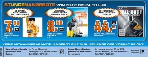 [LOKAL] Saturn Koblenz - Alle TOP10-Konsolengames für je 44,00 EUR