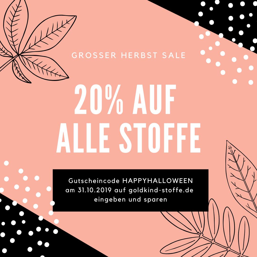 20% auf Stoffe bei goldkind-stoffe.de