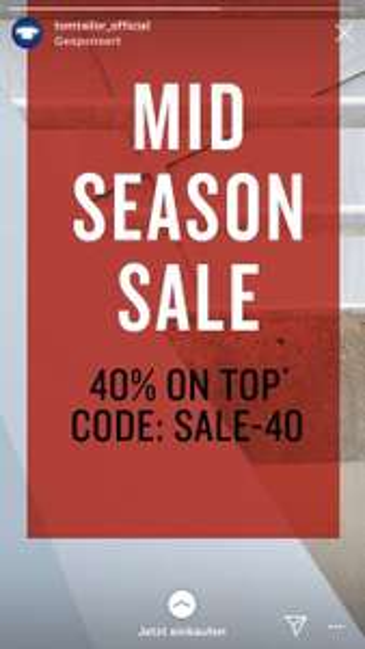 40% Rabatt bei Tom Tailor