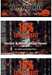 10% extra Rabatt Halloween Aktion bei Bike Discount