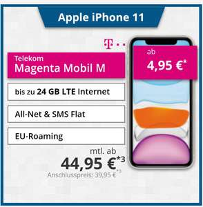 [Tophandy] Telekom Magenta Young M mit Apple iPhone 11 128 GB