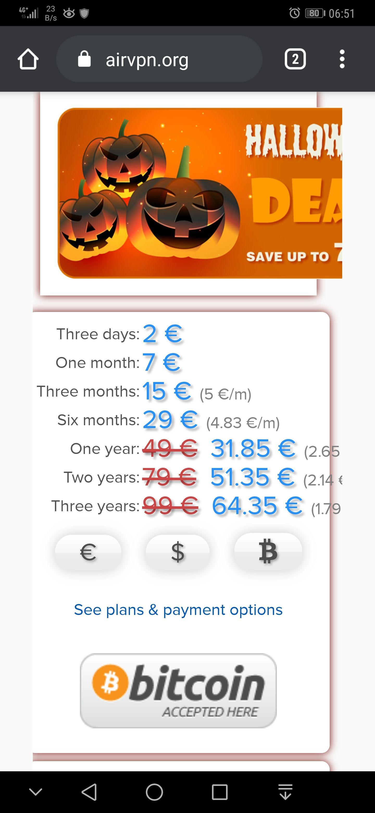 3 Jahre AirVPN zum Halloweenpreis von 64,35