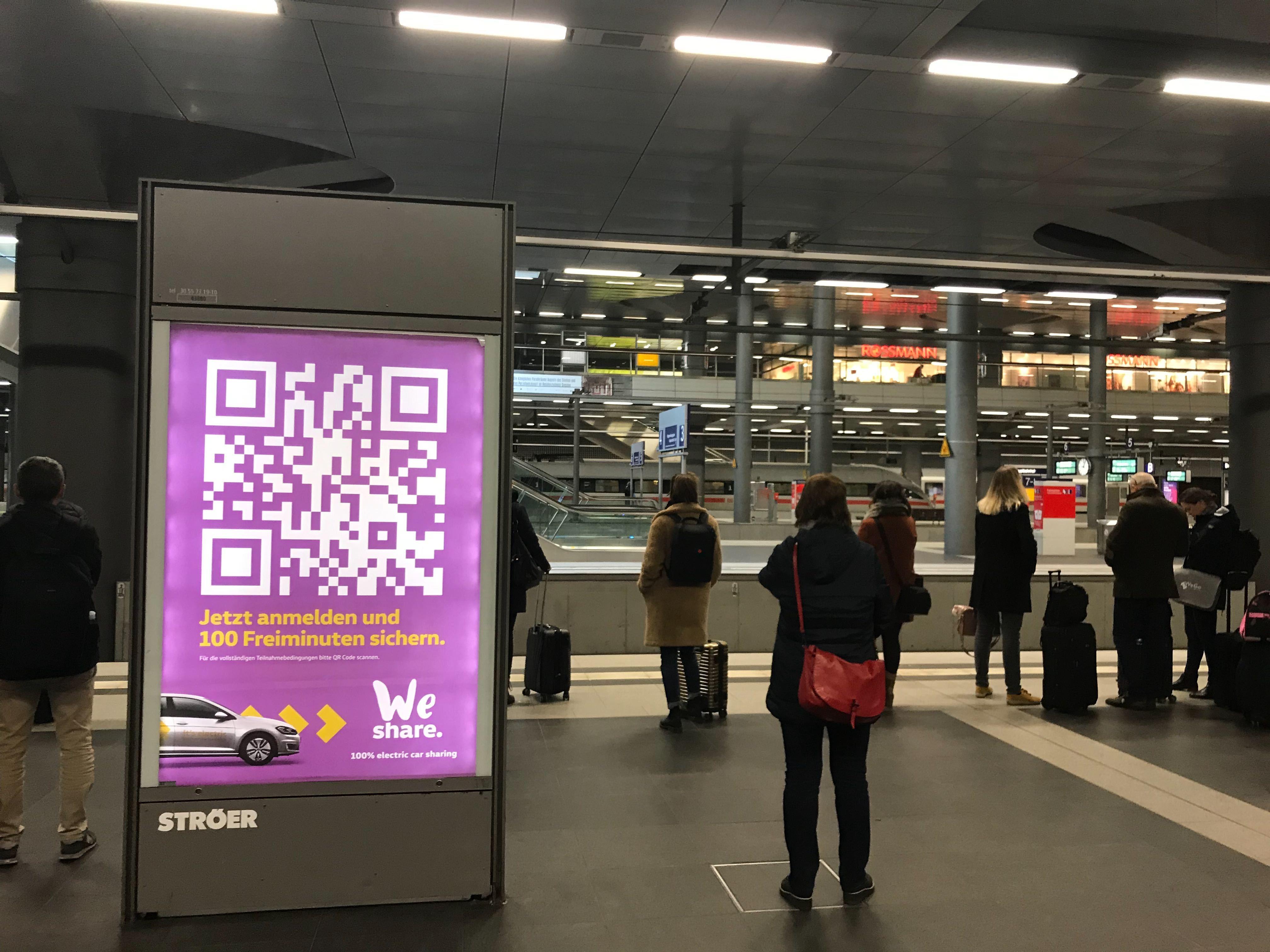 WeShare Carsharing Berlin 100 Freiminuten für Neukunden