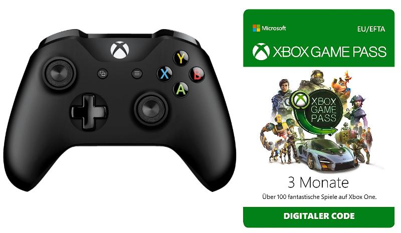 EWD Gaming: z.B. Microsoft Xbox Wireless Controller schwarz + 3 Monate Xbox Game Pass für 44€, diverse Xbox One-Spiele ab 10€