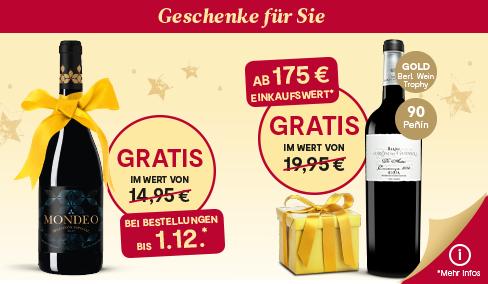 vinos.de - Weihnachts-Scheckheft - Rabatt und VSK-frei - spanischer Wein & Cava + Zeitschrift Falstaff 8 Ausgaben (selbstkündigend)
