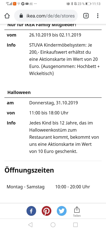 [Lokal?] Ikea Restaurant Nürnberg Fürth 10€ Aktionskarte für Kind in Halloweenkostüm