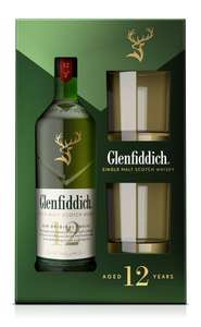 [real] Glenfiddich 12 Jahre Single Malt Scotch Whisky + 2 Tumbler Geschenkset