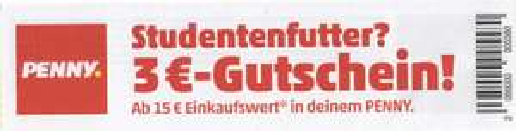 [Lokal Münster] Penny 3€ Rabatt ab 15€ Einkaufswert