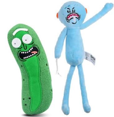 Stoffgurke Pickle Rick für 45 Cent inkl. Versand oder Mr. Meeseeks für 63 Cent inkl. Versand