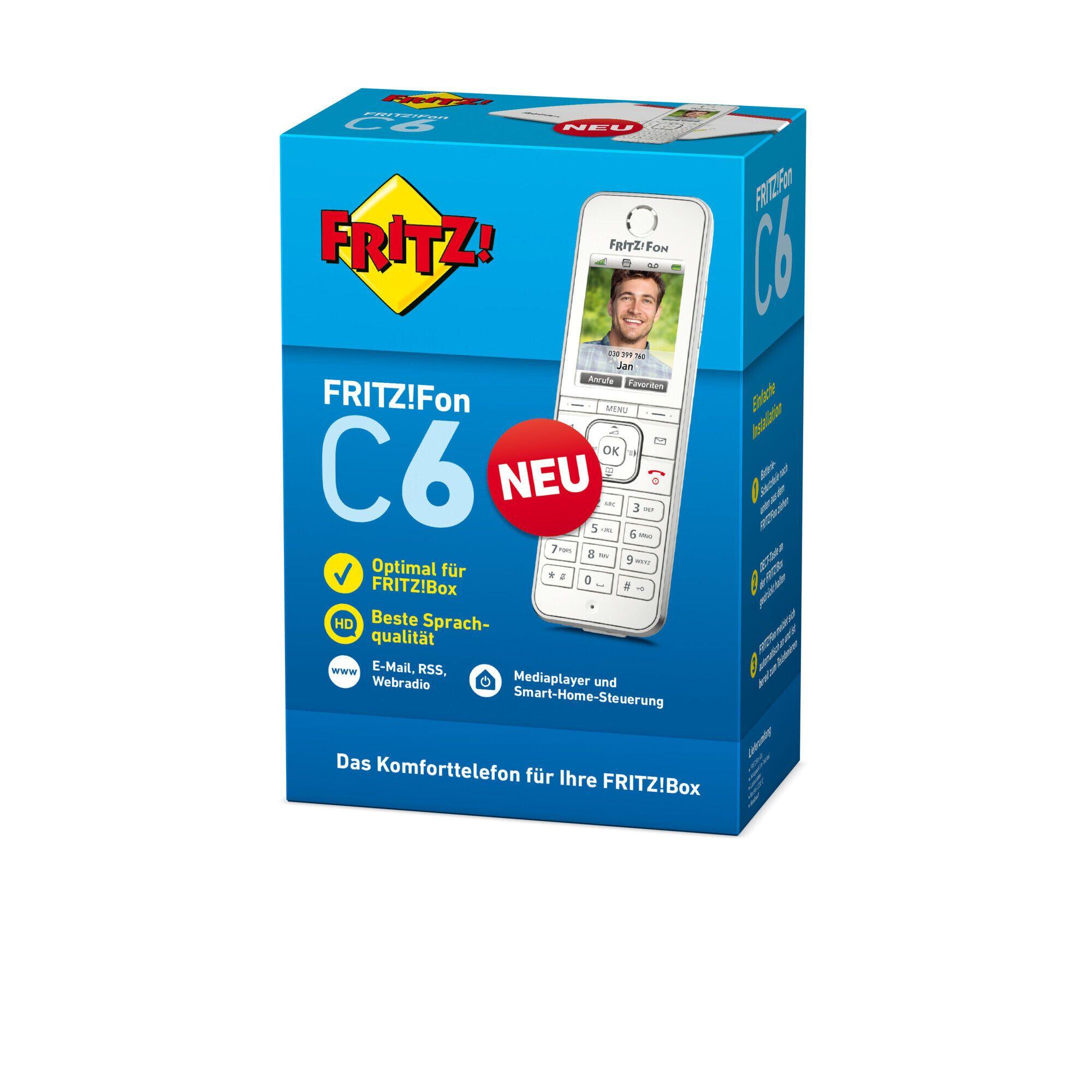 [NBB + MasterCard] AVM FRITZ!Fon C6 DECT-Telefon, Weiß für 50,00€ inkl. Versand