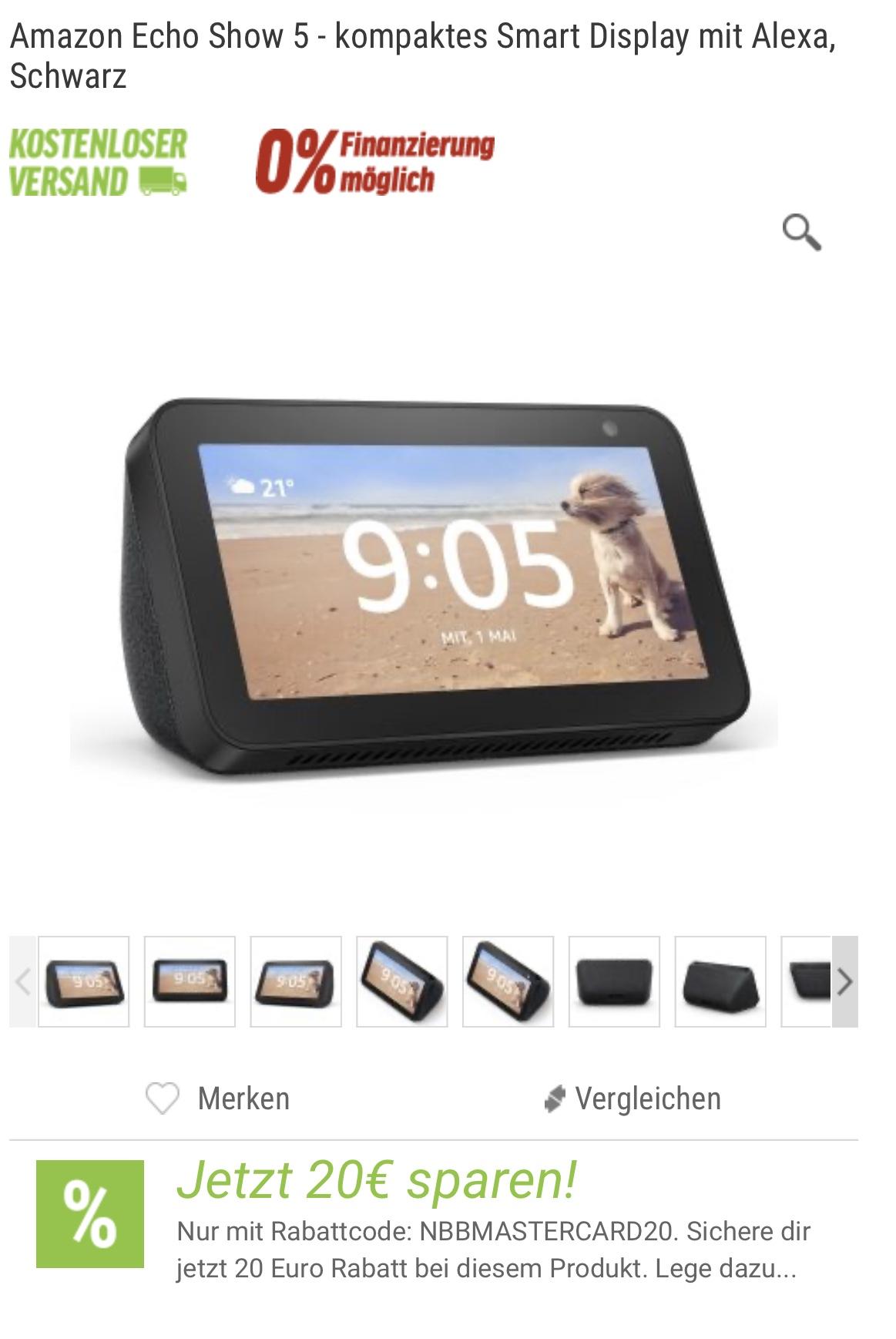 [NBB Mastercard] Amazon Echo Show 5 für 67,90, Fire TV Cube für 99,99, Fire HD 8 Tablet für 69,99