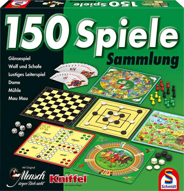 Schmidt Spielesammlung mit 150 Spielmöglichkeiten für 4,99 Euro [Kaufland]