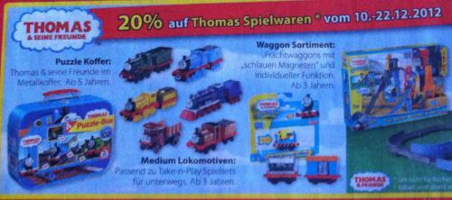 20% auf Thomas & seine  Freunde Spielwaren im Müller