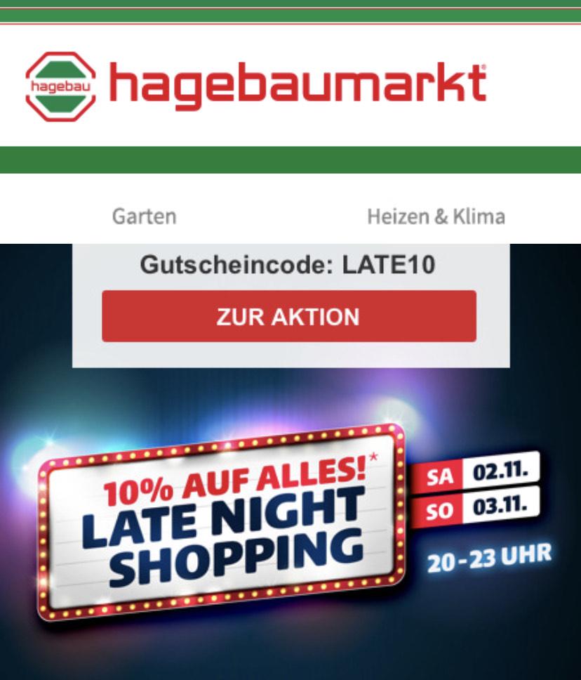 10% auf Alles im Online-Shop bei Hagebau.de