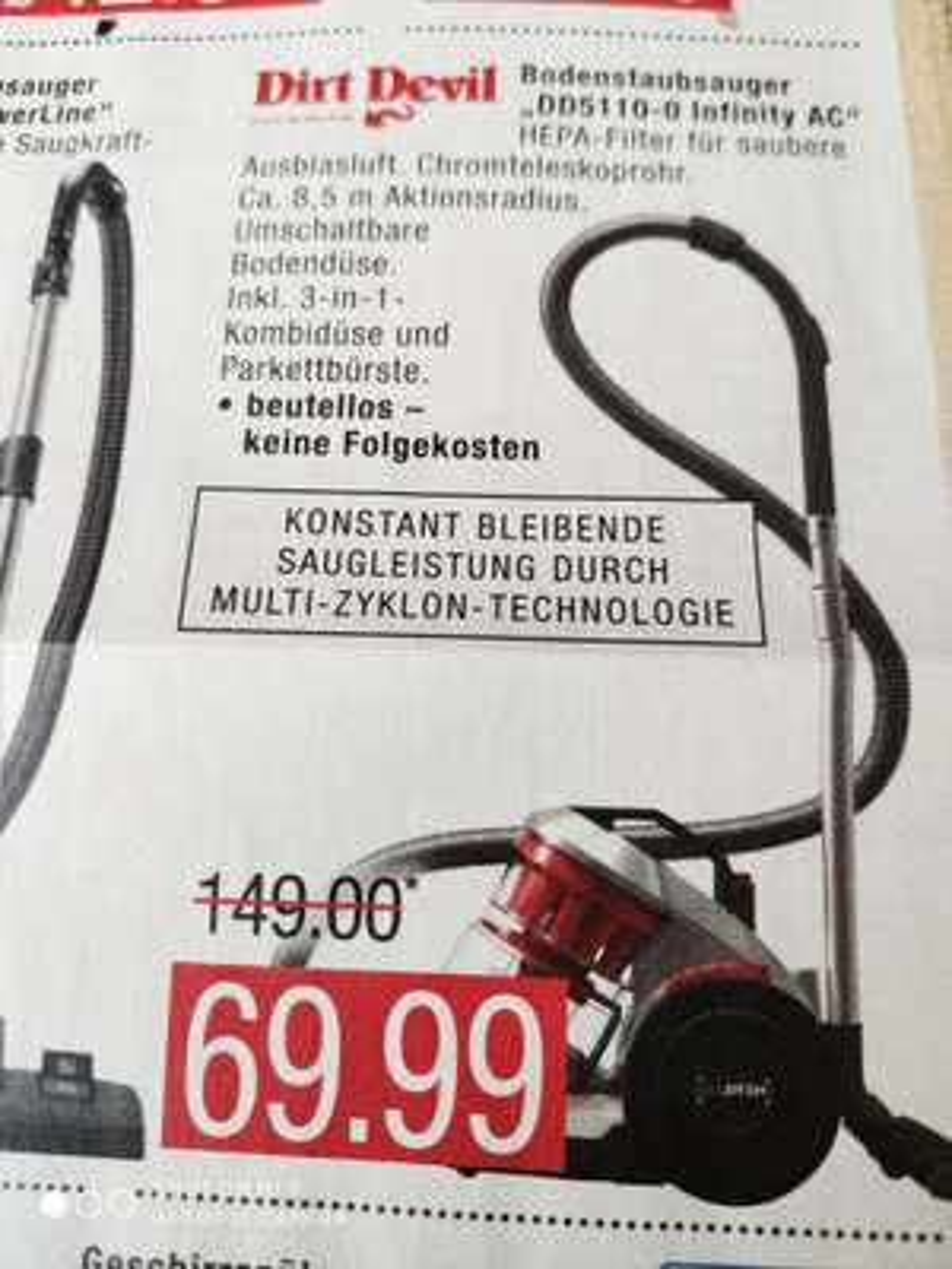 Dirt Devil Bodenstaubsauger DD5110-0 [Marktkauf]