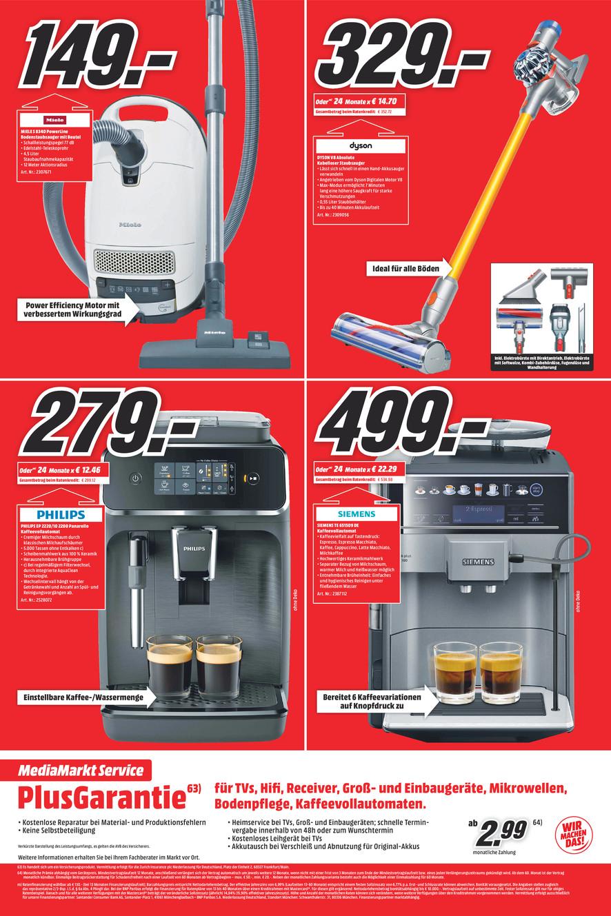 [Lokal Gütersloh] MediaMarkt Kaffevollautomat Siemens EQ.6 plus s100 TE651509DE