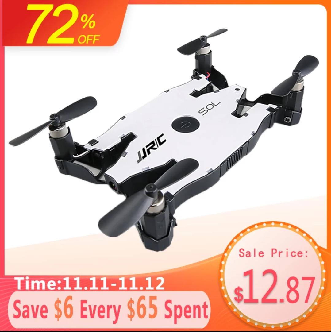 66%OFF | JJRC H49 SOL Ultradünne Wifi FPV Selfie Drohne 720P Kamera Faltbar, Höhe Halten RC quadcopter (am 11.11. bei Aliexpress)