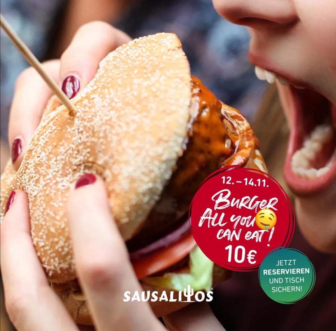 [Sausalitos] Burger all you can Eat für 10€