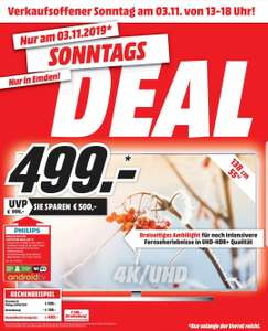 [Lokal] PHILIPS 55 PUS 7354. 4K UHD-LED-Android-Fernseher, Ambilight, HDR10+, Dolby Vision und Atmos, Android TV. [Media Markt Emden]