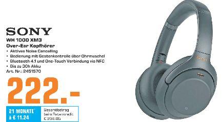 [Regional Saturn Duisburg-Nur Sonntag] Sony Wh-1000Xm3 Bluetooth Noise Cancelling Kopfhörer für 222,-€