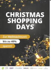 Christmas Shopping Days (Shopping-Booklet limango, eis.de, home24, ABOUT YOU usw)