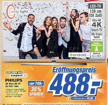 (Expert Freital + Pirna) Philips 55 PUS 7394