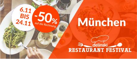 Bis zu 50% Rabatt im Restaurant bei Reservierung über delinski