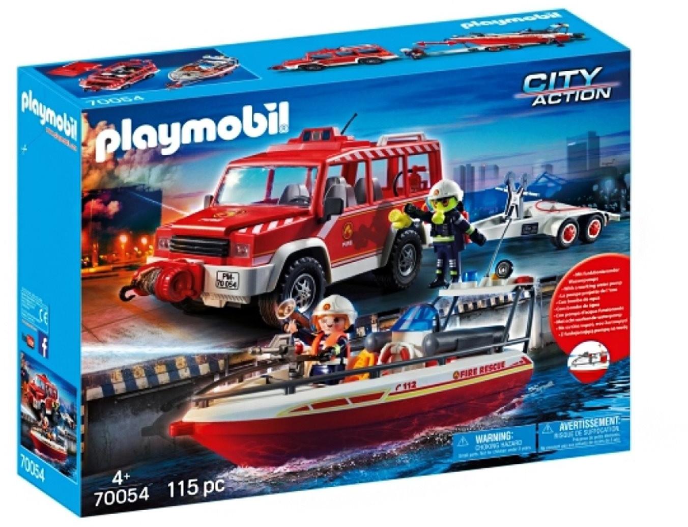Playmobil 70054 - Feuerwehrfahrzeug mit Löschboot - lokal in Recklinghausen