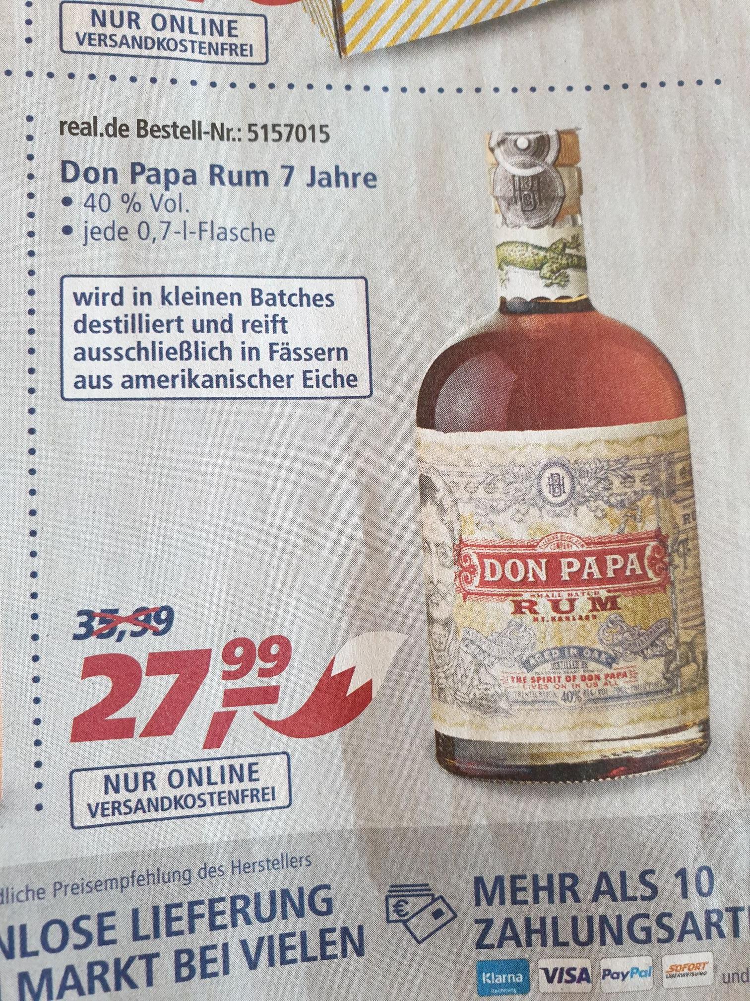 Don papa Rum 0,7l inklusive Versand