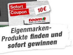 toom Gewinnspiel: 10€ Direktrabatt ab 60€ Einkaufwert in allen toom Märkten im Zeitraum vom 04.11.-17.11.2019